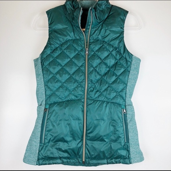 Lululemon Green down for a run fort forage vest